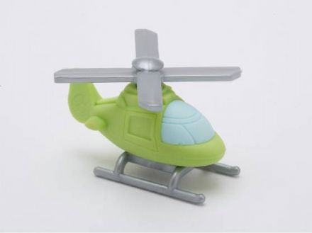 IWAKO NOVELTY ERASERS / RUBBERS - GREEN HELICOPTER